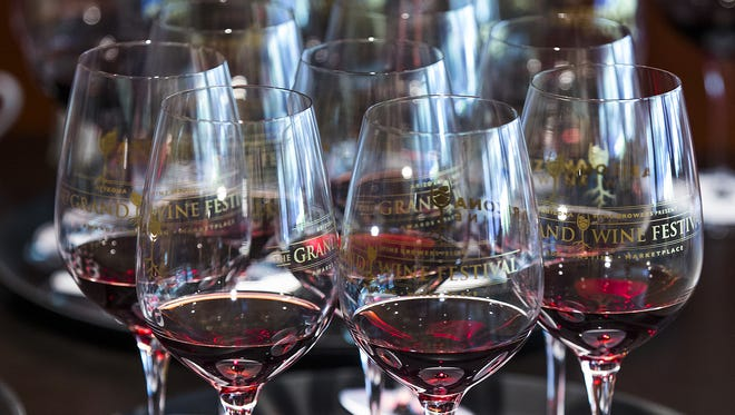 Glasses of wine will be judged at Palette @ Phoenix Art Museum, as part of the 2016 Arizona Republic Wine Competition, Monday, December 12, 2016.