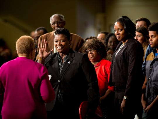 Tamaya Dennard is sworn in as a city council member