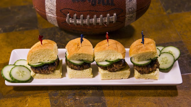 Robin Miller cooked up lamb sliders with feta and cucumber, Thursday, October 27, 2016.