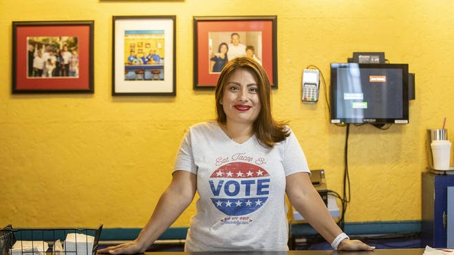 """We wanted to do something that we felt comfortable with and that was aligned with the message we've been spreading,"" says Regina Estrada, owner and manager of Joe's Bakery & Coffee Shop in East Austin of offering a discount to customers that show their voting stickers."