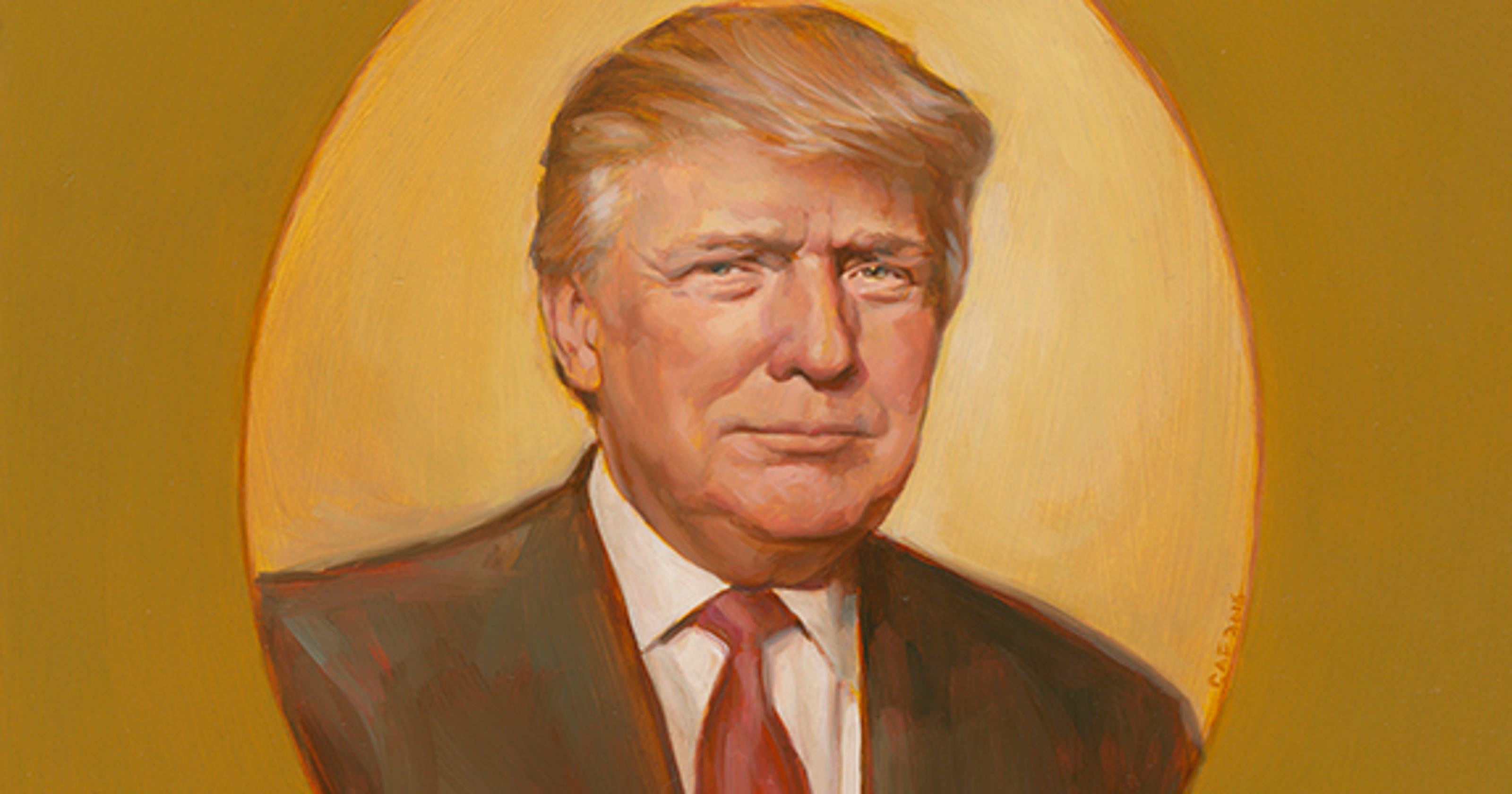 Image result for portrait of trump