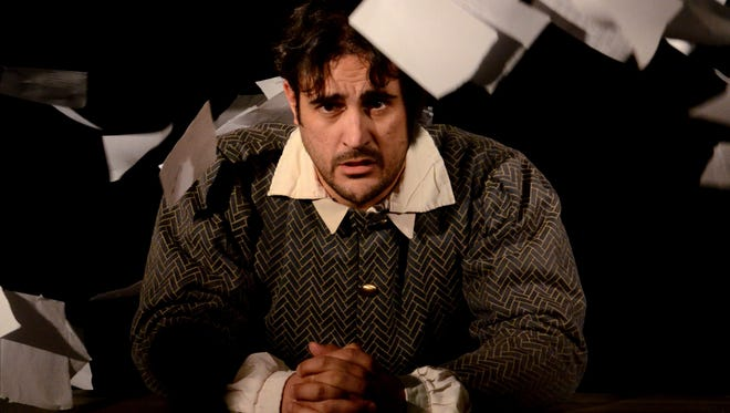 Joseph Cannon as Shagspeare in the Southwest Shakespeare Company production of 'Equivocation.' .