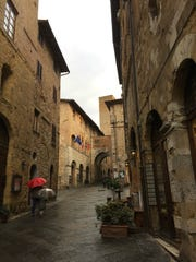 A rainy day in San Gimignano.