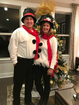 Jack and Judy Dickson were Mr. and Mrs. Snowman at the Durham Farms ugly Christmas sweater party in December.The community has a lifestyle director who plans social events for the residents.
