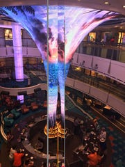 On the Carnival Vista, the atrium is bright, lively