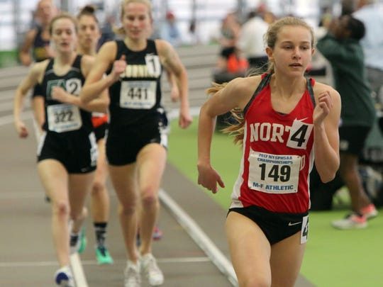 Katelyn Tuohy from North Rockland  competes in the