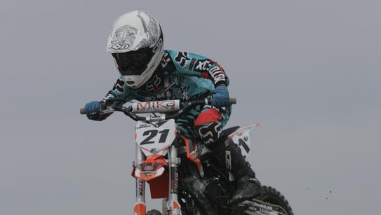 Visalia's Enzo Temmerman, 9, will be racing motocross