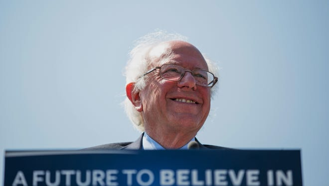 Democratic presidential candidate Bernie Sanders,  pictured in Rapid City, S.D., on Thursday, May 12, 2016, is striking a nerve among voters who worry about issues such as health care.