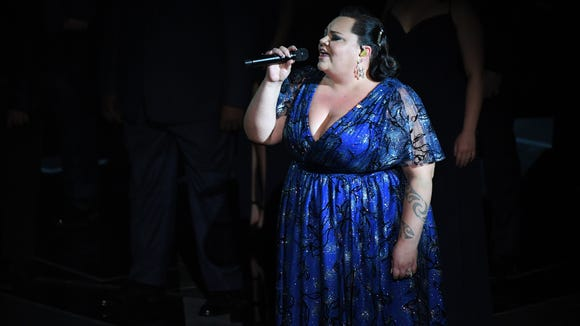 "Keala Settle performs ""'This is Me""' from '""The Greatest Showman""' during the 2018 Academy Awards."