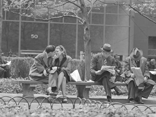 """Stanley Kubrick, from """"Park Benches: Love is Everywhere"""","""