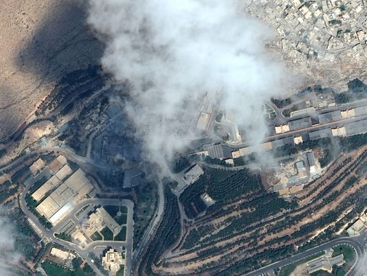 USP NEWS: SATELLITE IMAGE OF SYRIAN FACILITIES A SYR
