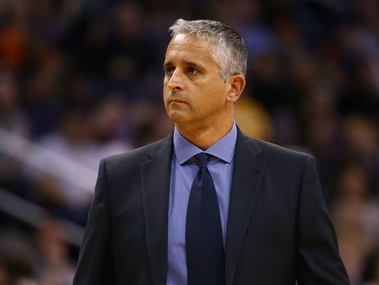Phoenix Suns head coach Igor Kokoskov against the Utah