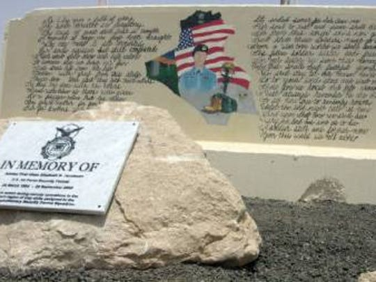 Money is being raised for a new display at Gunter's Enlisted Heritage Hall for A1C Elizabeth Jacobson who became the first female killed in Iraqi Freedom.