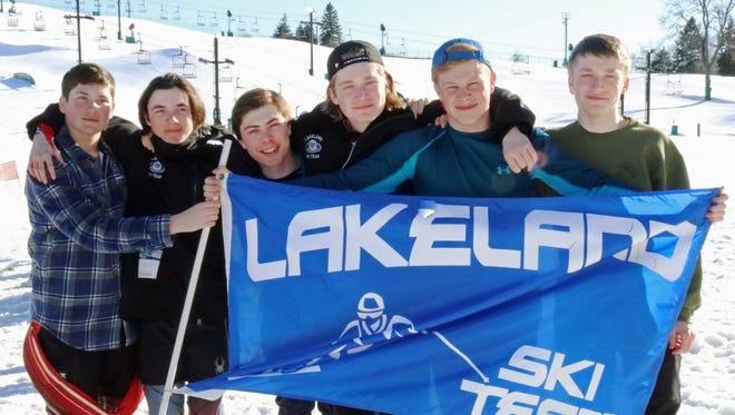 The Lakeland boys ski team took runner-up honors in the KLAA Championship Feb. 13 at Mount Brighton.