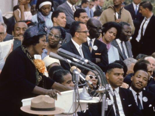 Mahalia Jackson at the March on Washington