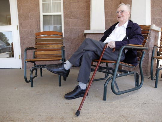 Loren Greiner, in 2012 at the age of 104, was one of