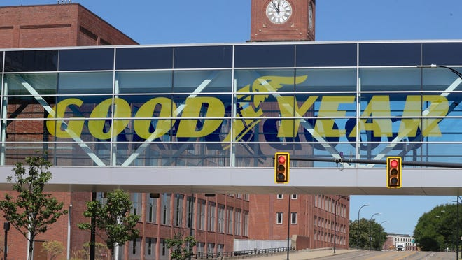 Goodyear's World Headquarters on Thursday, Aug. 20, 2020, in Akron, Ohio.