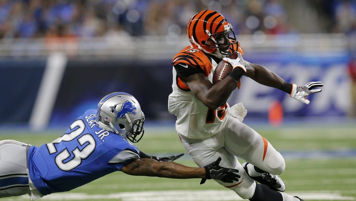The Bengals released wide receiver Brandon Tate on