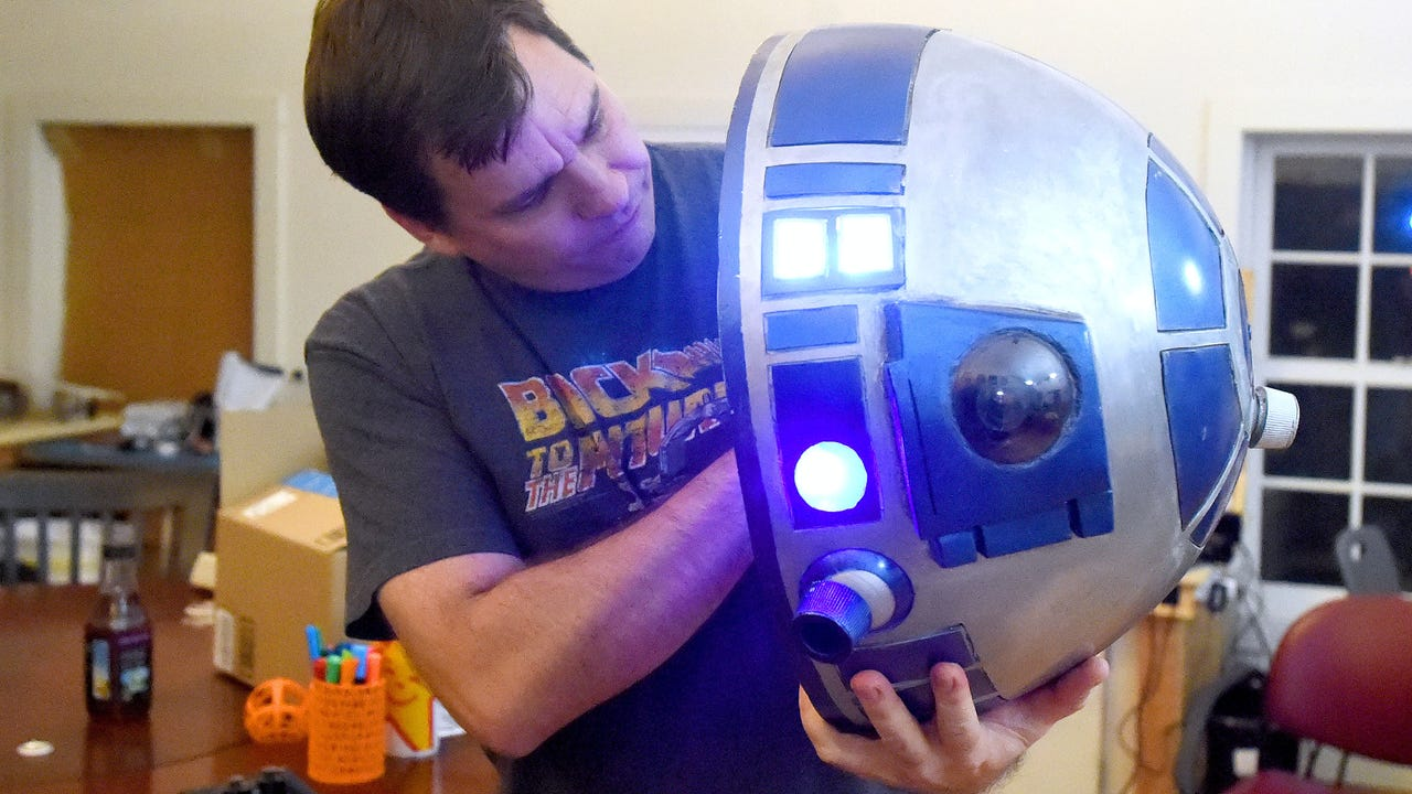 Andy Wiseman of Staunton started his R2-D2 droid building project as a way to help learn new skills.