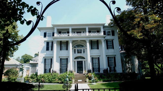 Linden Place Mansion will host a guided sculpture and gardens tour on Friday.