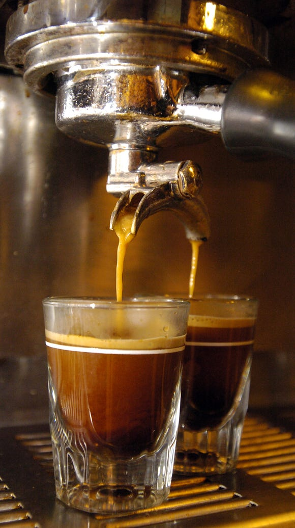 In this Advertiser file photo, shots of espresso are