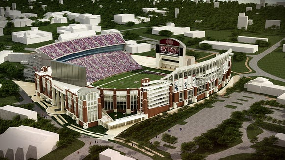 Mississippi State announced a new season ticket record for the 2014 season at newly renovated Davis Wade Stadium.