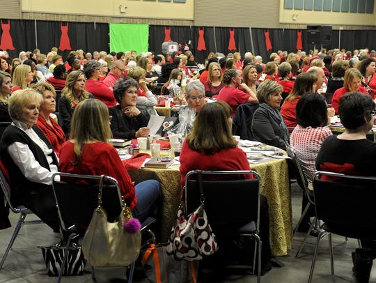 Attendees take in the 2015 Heart of a Woman event. This year's Heart of a Woman will be 8 to 11 a.m. on Feb 10. Special guest speaker Danny Boone. Ray Clymer Exhibit Hall, 1000 5th Street.