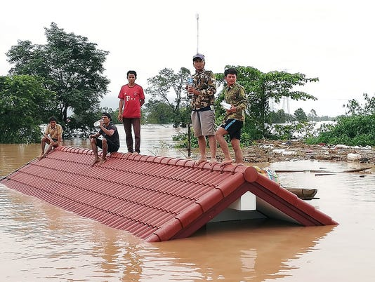 EPA LAOS DAM FLOOD ACCIDENT DIS FLOOD LAO AT