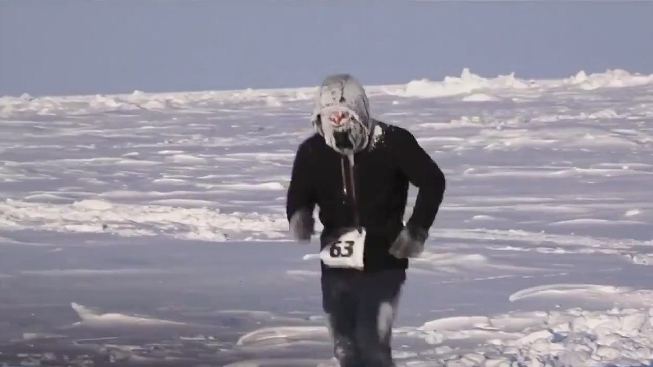 how cold is the north pole