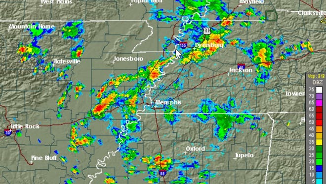 The National Weather Service in Memphis has issued a severe thunderstorm watch until 8 p.m. Sunday for most of West Tennessee.