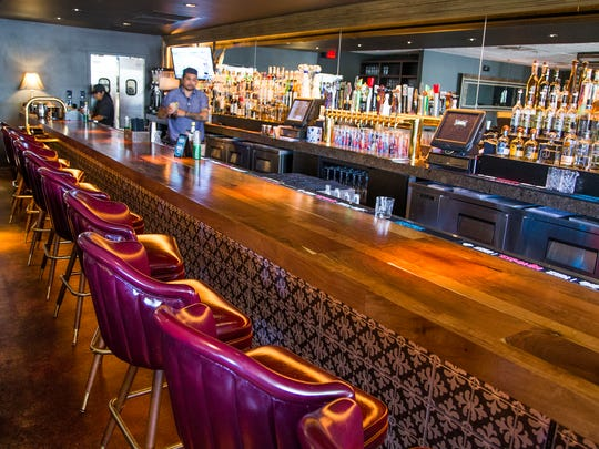 This is the bar at the Ladera Taverna y Cocina in Phoenix,