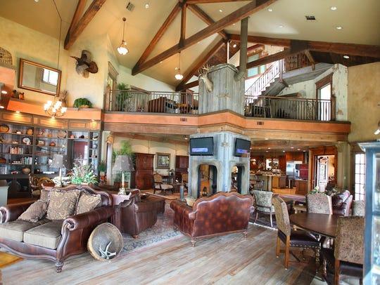 The great room at Honey Brake Lodge
