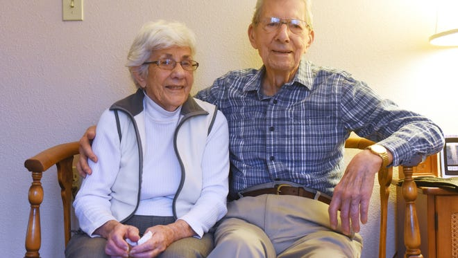 Madge and Don Myer have been married 70 years.