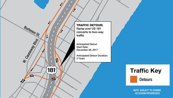 Traffic switch to take effect into 2020 for Harbor Bridge Project