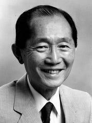 Minoru Yamasaki, architect. Picture dated May 1985