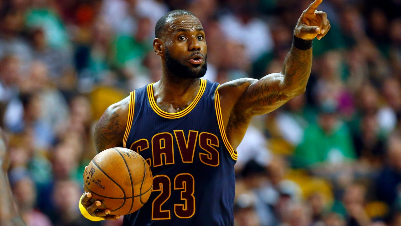 LeBron James helped the Cavs dominate the Celtics and passed Michael Jordan as the NBA's all-time leader in postseason points.