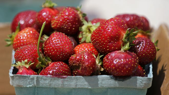 Strawberries at the Downtown Appleton Farm Market.