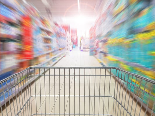Speeding shopping cart after supermarket promotions