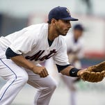 Josh Rodriguez on Tuesday, May 5, 2015 against the Portland Sea Dogs.