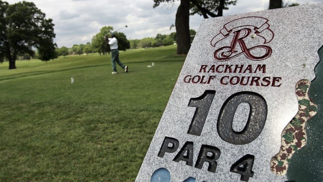 Before golfers can tee off at Rackham Golf Course and three other Detroit facilities, the city must resolve a dispute with a losing bidder.