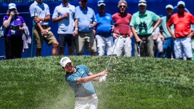 Andres Romero finished -7 under par as was Thursday's leader late in the afternoon at the Barbasol Championship.