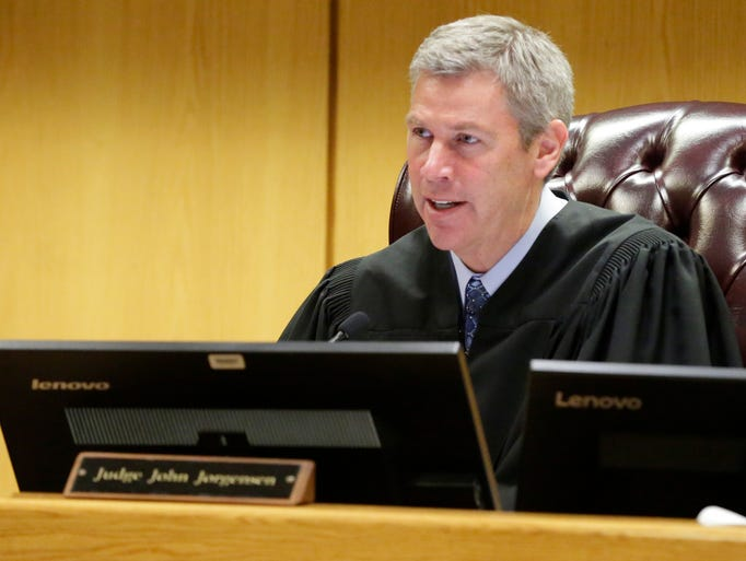 Judge John Jorgensen sentences Brian T. Flatoff to
