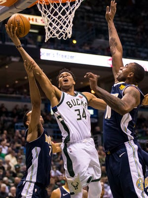 Giannis Antetokounmpo and the Bucks lost to the Nuggets the last time the teams squared off this season.