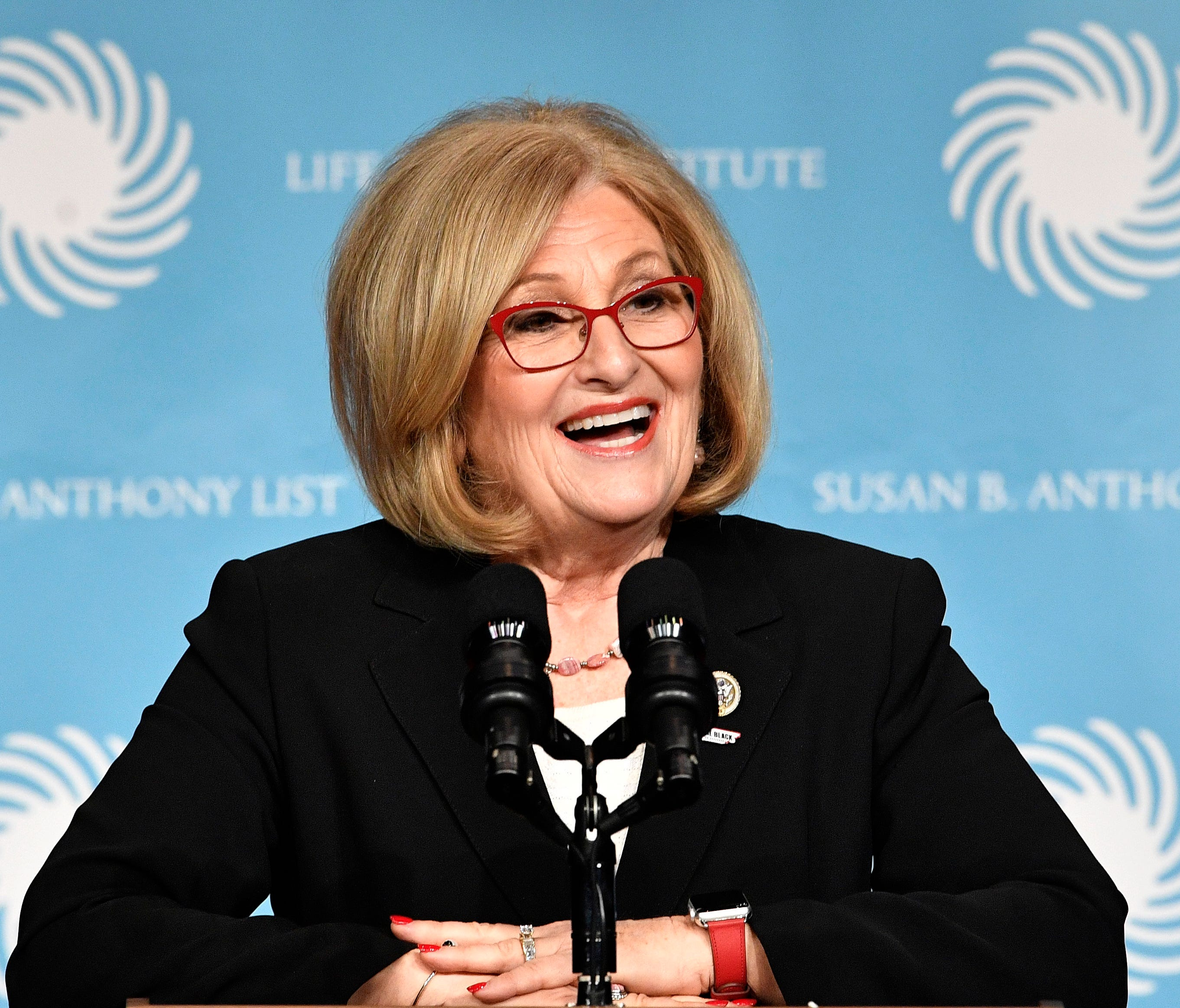 Rep. Diane Black speaks before an appearance by Vice President Pence at the Susan B. Anthony List & Life Institute Luncheon on Feb. 27, 2018, in Nashville, Tenn.