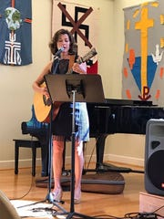 Amy Grant shares her muscial talents during worship