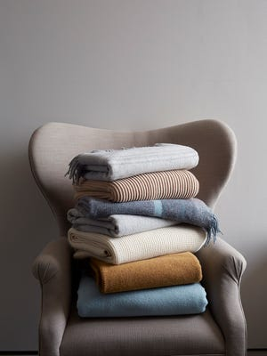 New machine-washable wools are perfect for throws that get a lot of use.