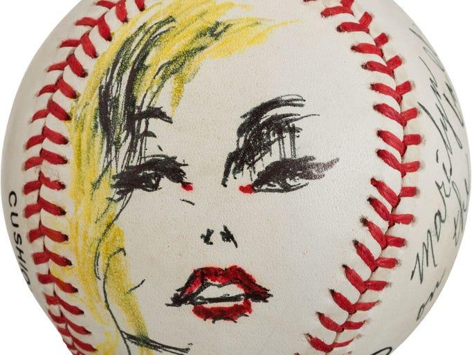 Marilyn Monroe baseball art by LeRoy Neiman