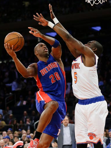 The Pistons' Jodie Meeks is expected to be out three