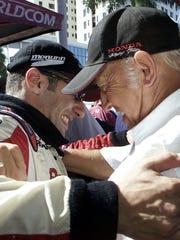 In 2002, car owner Mo Nunn had a hug for Tony Kanaan