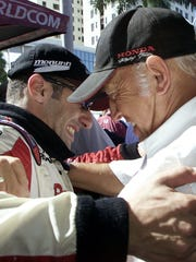 In 2002, car owner Mo Nunn had a hug for Tony Kanaan